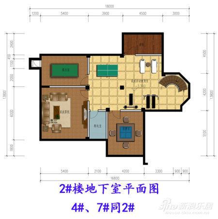 独栋别墅地下室平面图