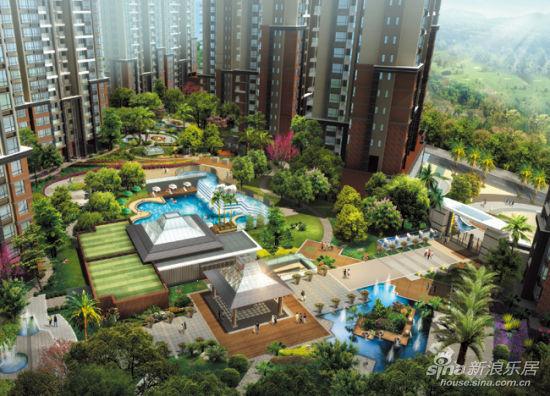 招聘重金,裕福康城住宅礼聘香港知名景观设计养生设计院桂林图片